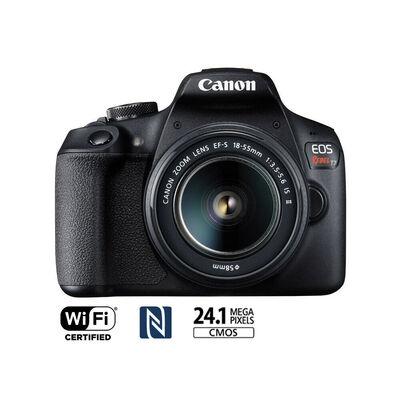 """Cámara Reflex Canon EOS Rebel T7  3"""" Negro"""