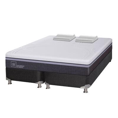 Box Spring CIC Base Dividida King Ortopedic Advance + Almohadas