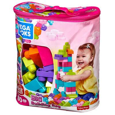 Mega Bloks Gran Bolsa Rosa para Construir
