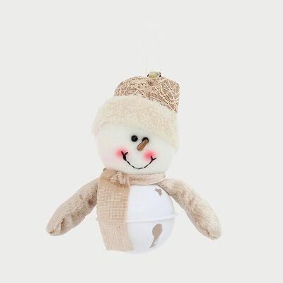 Snowman  Cascabel Dorado 14 Cm