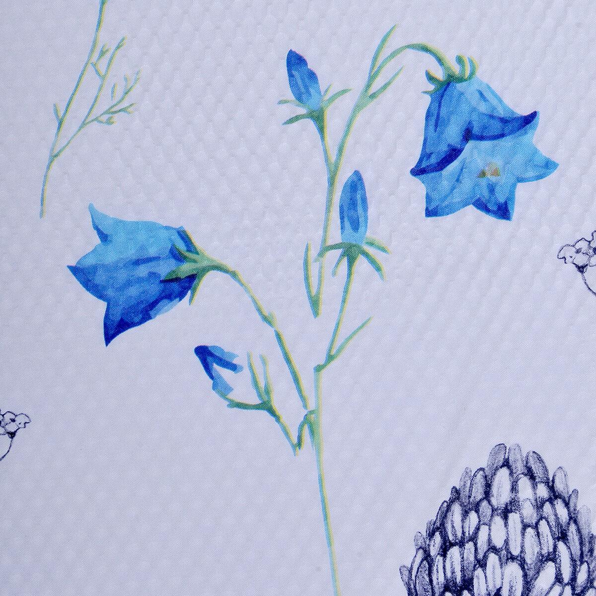 Set Cortina de Baño 3 Piezas Flores Lilas 180X180 Cm