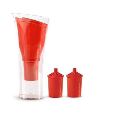 Jarro Purificador de Agua + 2 Repuestos de Filtro Dvigi Rojo