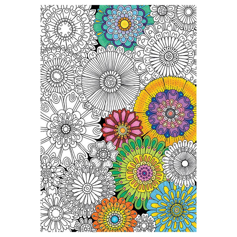 Puzzle para Colorear Beautiful Blossoms Educaborras