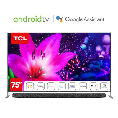 "QLED 75"" TCL 75X915-75 Android Smart TV 8K UHD + Soundbar Onkyo Xess Line"