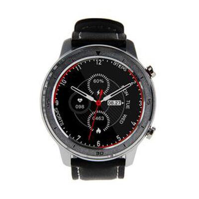 Smartwatch Lhotse RD7 Plateado Cuero Negro
