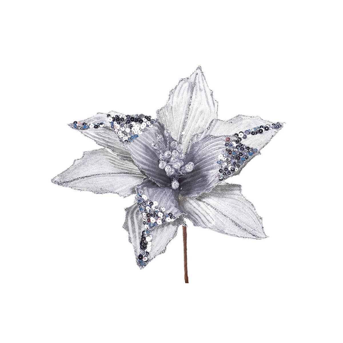 Flor Decorativa Plata Santini 26 cm