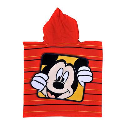 Toalla de Playa Capucha Microfibra Disney-Mickey Square 60X120 Cm