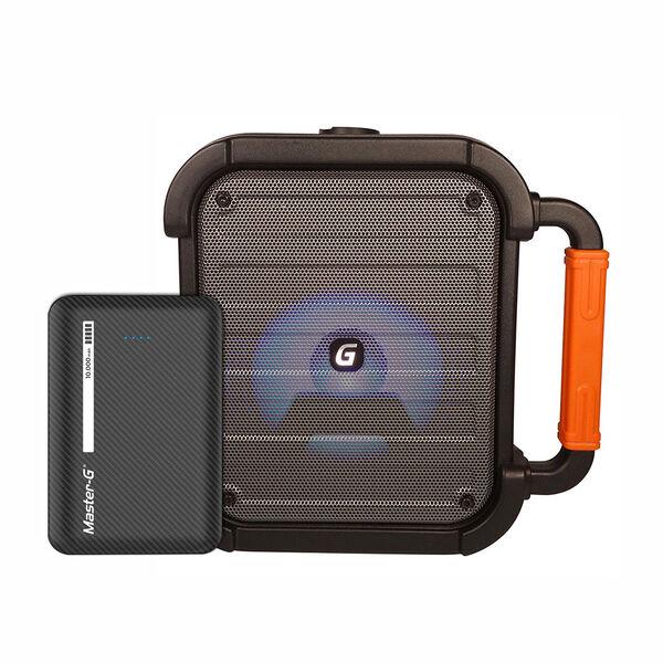 Parlante Bluetooth Karaoke Portátil Master-G Mirage + Cargador Portátil USB 10.000 mAh