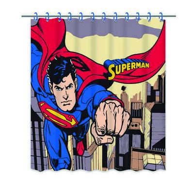 Cortina de Baño Superman Escena