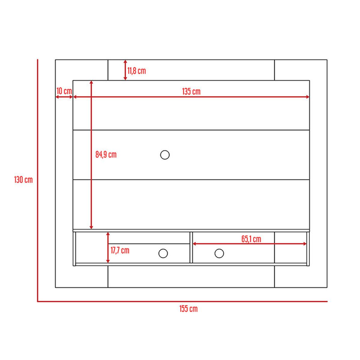 Set Panel TV Wall 1A + Repisa Wall 1B