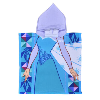 Toalla de Playa Capucha Microfibra Disney-Frozen 60X120 Cm