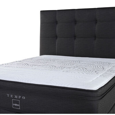 Box Spring King Tempo + Set Maderas Issey