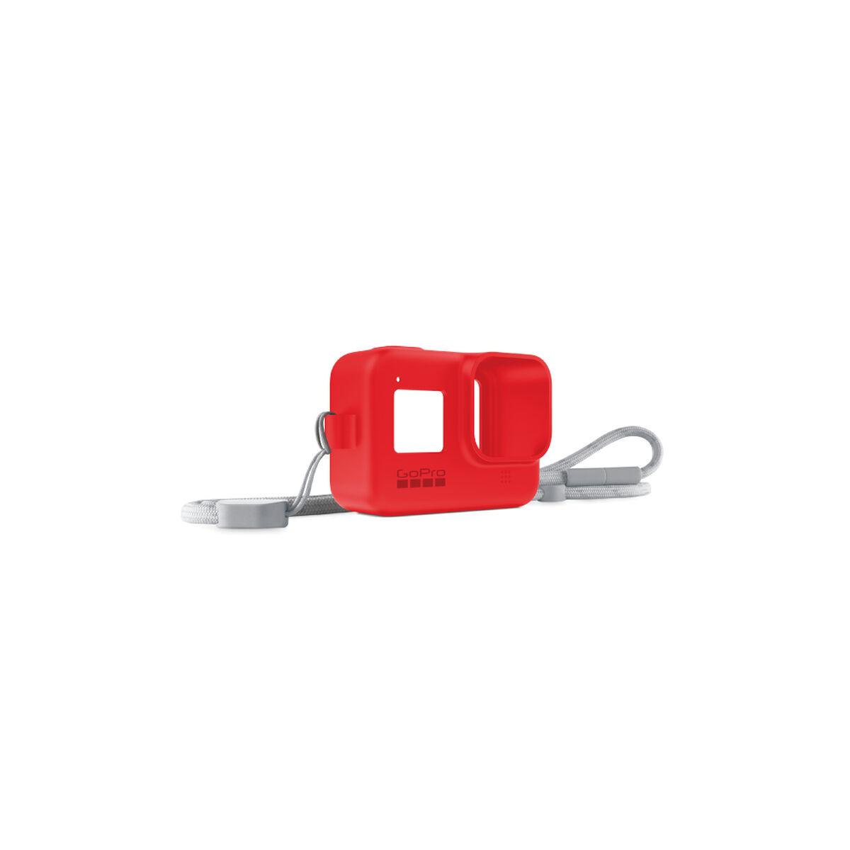Funda de Silicona + Cordón Rosso Corsa para GoPro HERO8