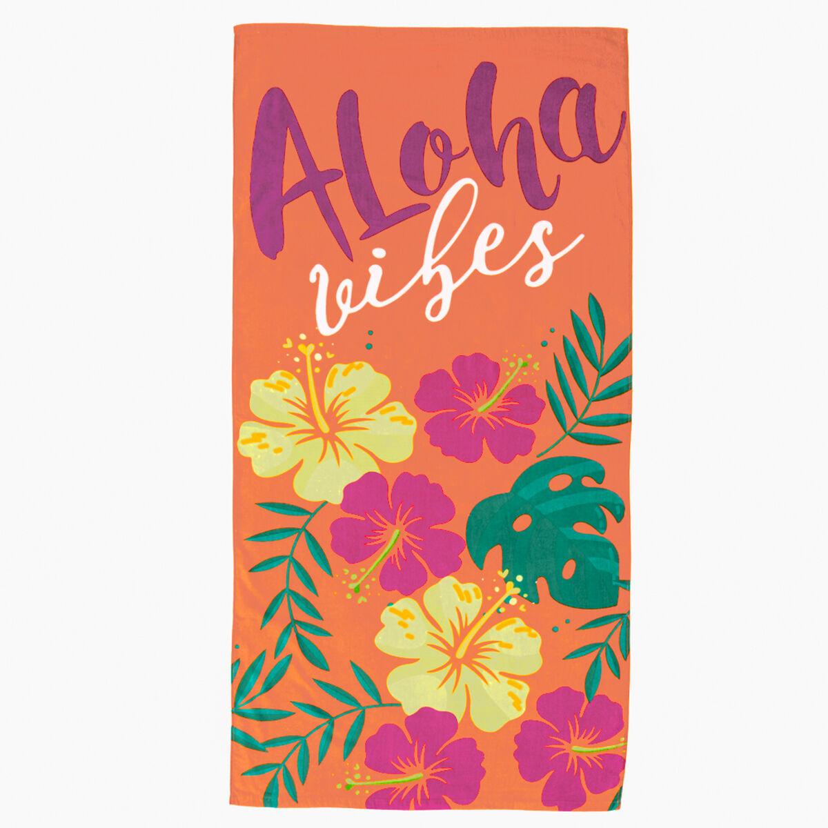 Toalla de Playa Velour Aloha 75 x 150 cm