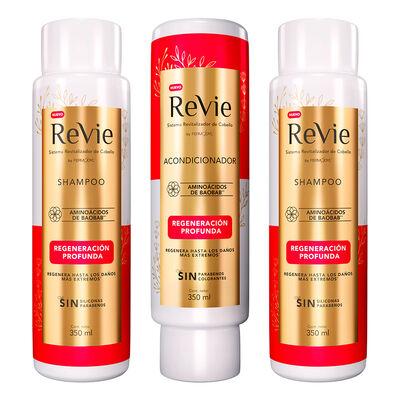 Revie 2 Shampoo+ Acondicionador Regeneración Profunda
