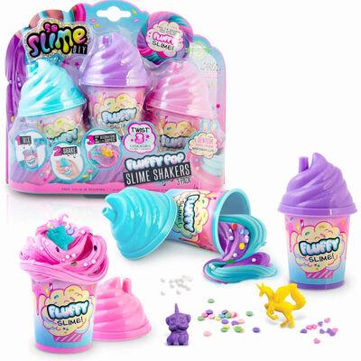 Pack 3 Slime Shaker Fluffy Canal Toys