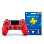 Control PS4 DualShock4 Magma Red + Cupón PS Store Membresía 3 Meses