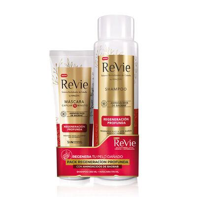 Pack Revie Shampoo + Máscara Regeneración Profunda