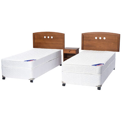 Doble Cama Americana Spring III 1 Pl Flex + Muebles Juvenil