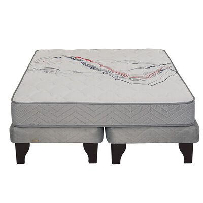 Cama Europea King Div Threrapedic Más Gris