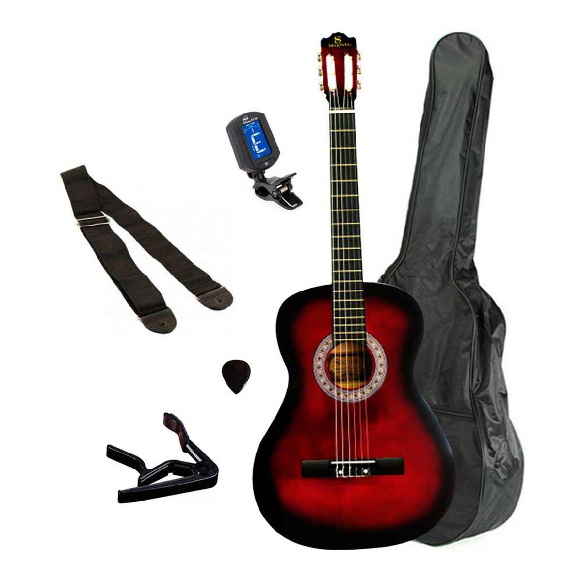 Set Guitarra Clásica 39'' Redburst AlaguezAZ-39RSET