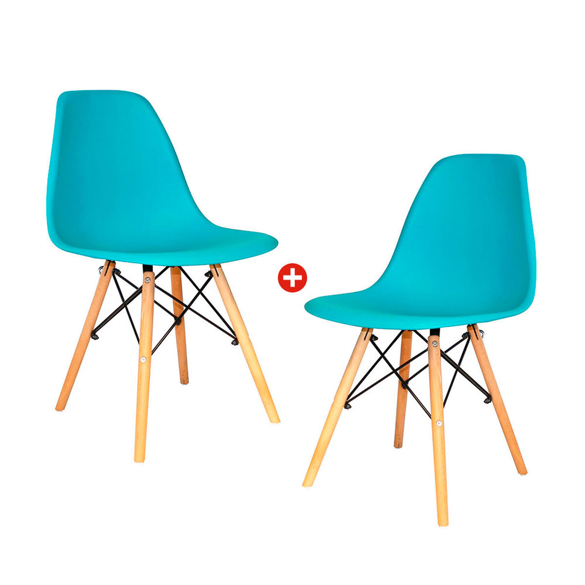 Pack 2 Sillas Oslo Eames Calipso