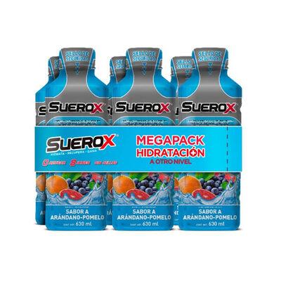 Pack Suerox 06 Bebidas Sabor Arándano 600 ml c/u