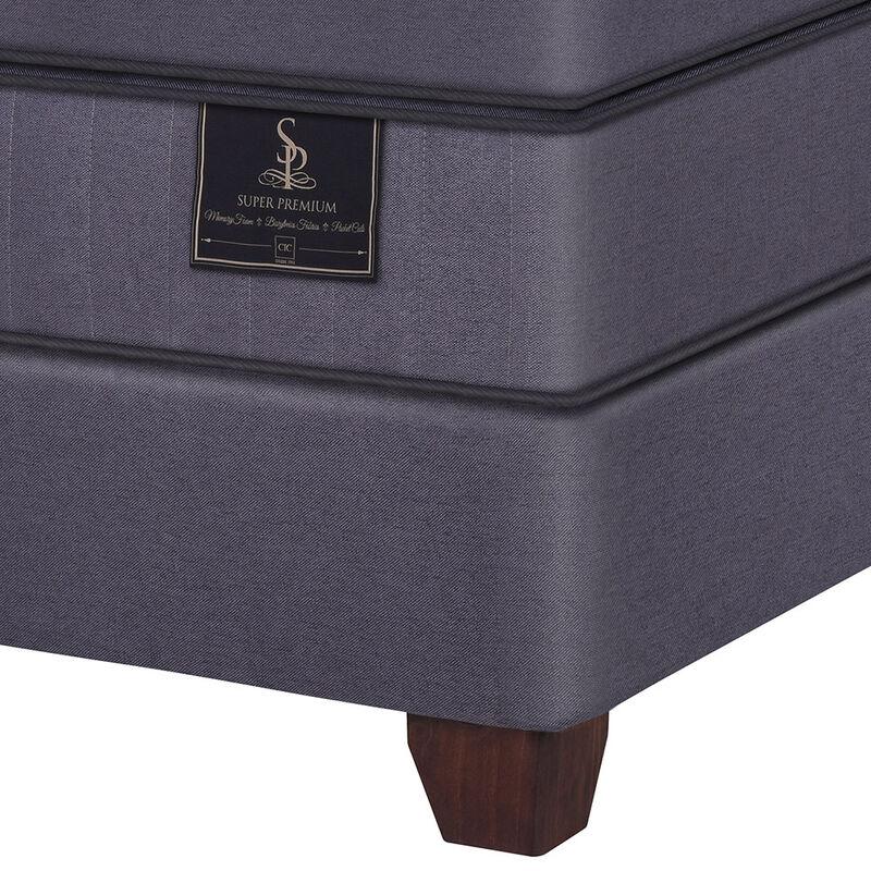 Box Spring Super Premium CIC King + Set Maderas Miro