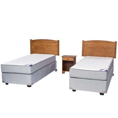 Doble Box Spring Therapedic 1 Pl Flex + Muebles Arezzo