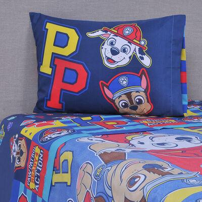 Sábana Disney 1,5 Plazas Microfibra Paw Patroll Niño