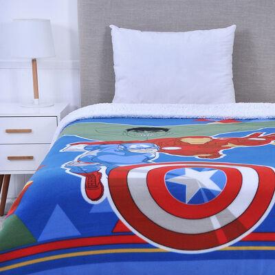Frazada Polar Sherpa Marvel Avengers 150 x 200 cm