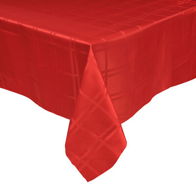 Mantel Roma Redondo Rojo 180 Cm
