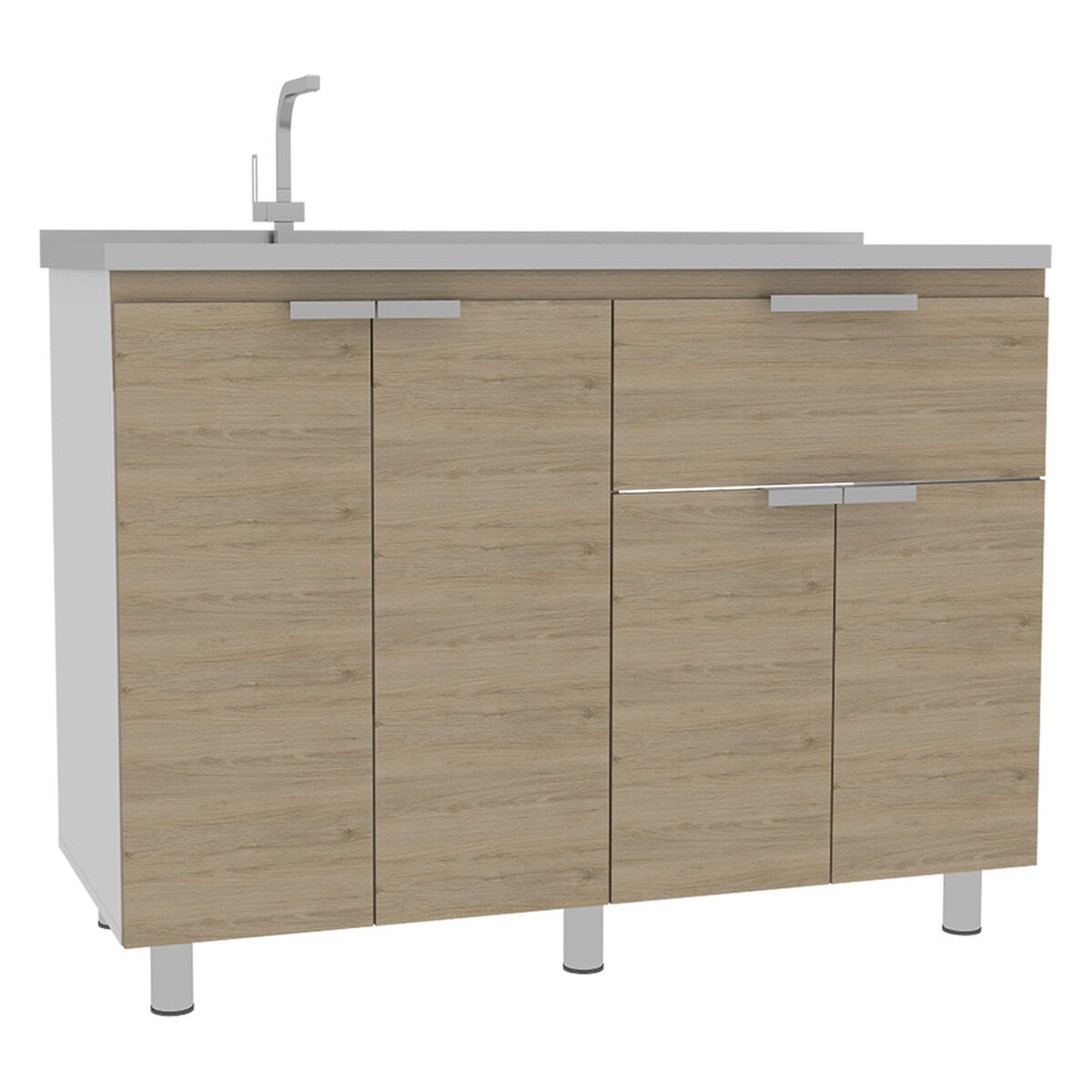 Combo 4 Fendi | Muebles Inferior + Superior + Microondas