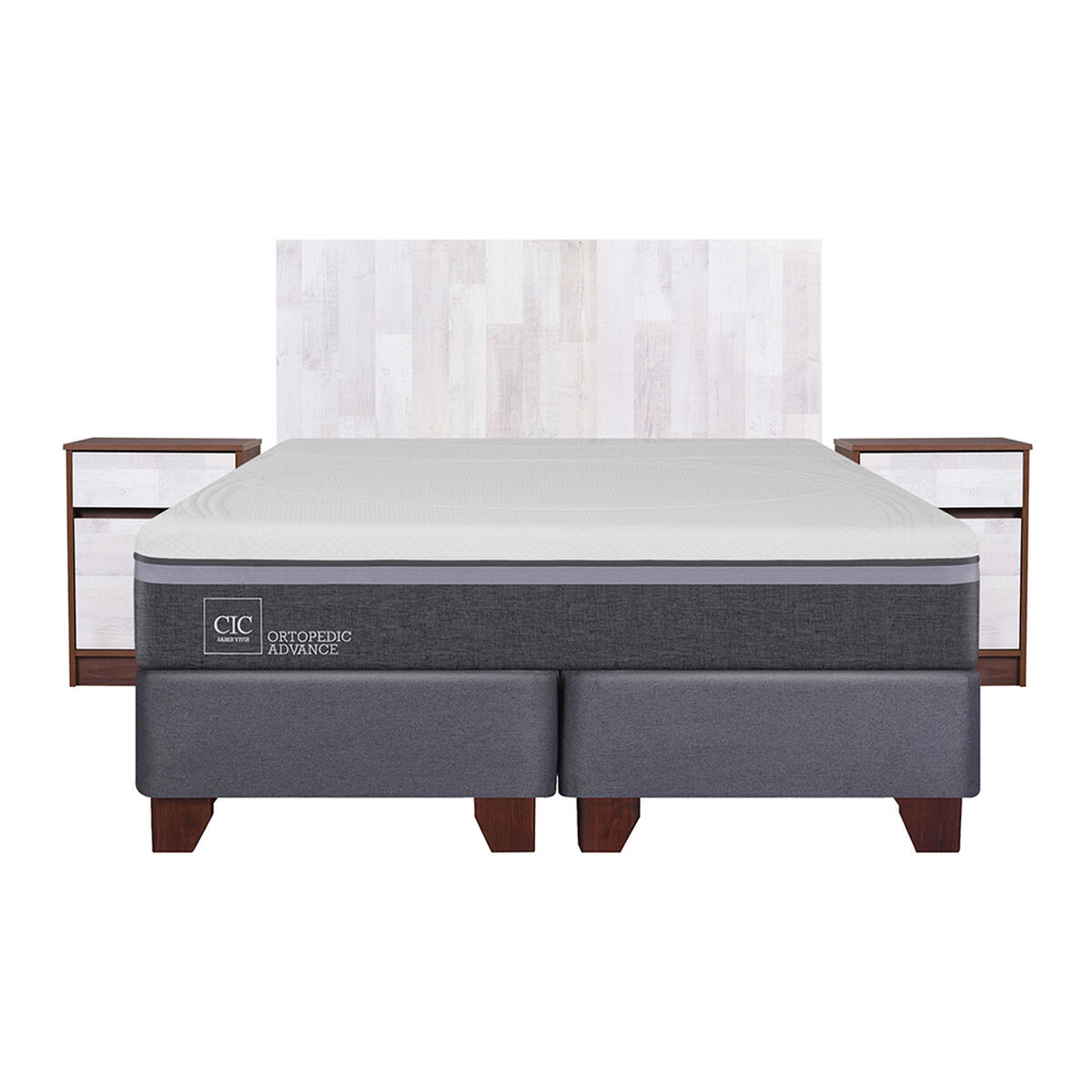 Box Spring 2 Plazas Div Ortopedic Advance