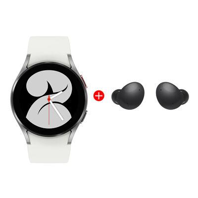 Combo Smartwatch Samsung Galaxy Watch4 40mm Silver + Audífonos Bluetooth Samsung Galaxy Buds2 Graphite