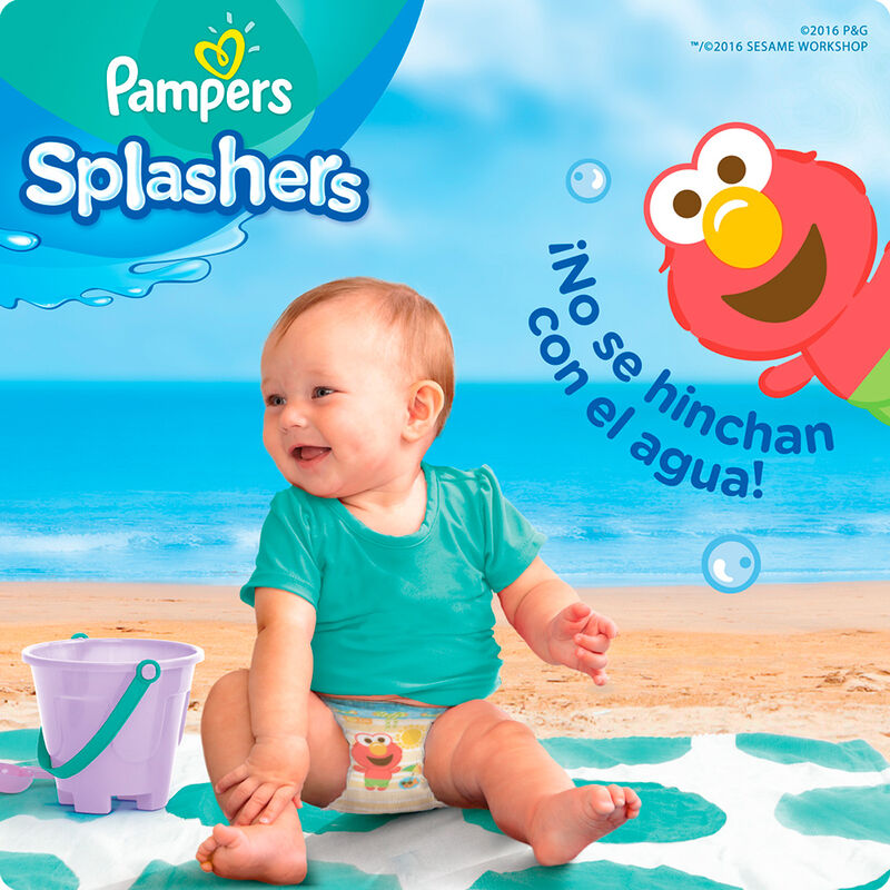 Pañales para piscina PAMPERS Splashers Talla XXG 21unids