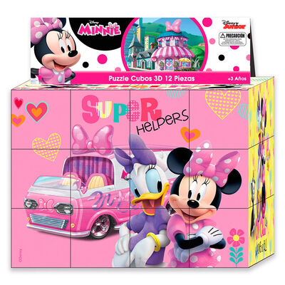 Puzzle Cubos 3D 12 Piezas Minnie Disney