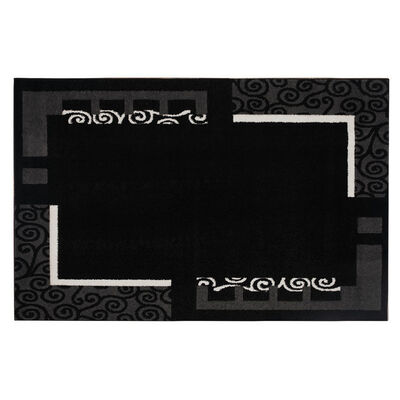 Alfombra Frize Carved D5 80X120 Cm Negro