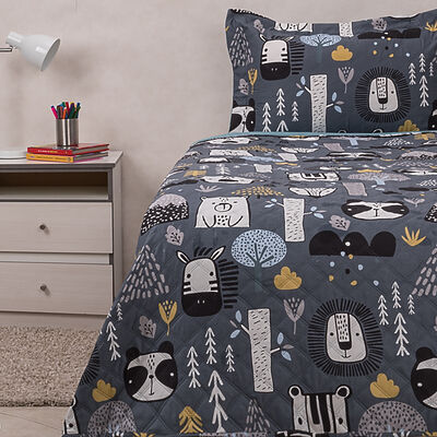 Cubrecama Casanova Kids Estampado Sherpa 1,5 Plazas Jungle