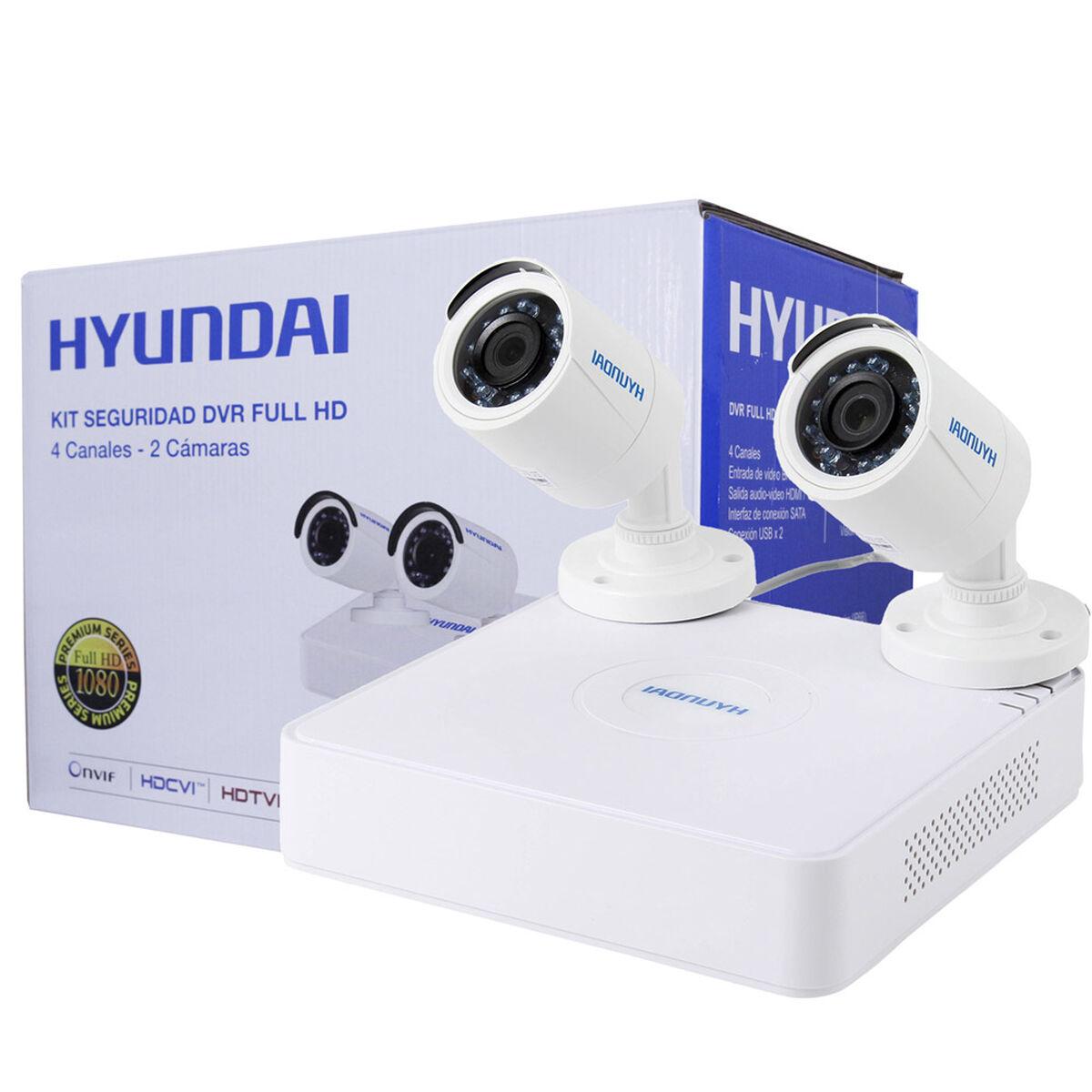 Kit 2 Cámaras de Seguridad Hyundai HY-DVR4CAM DVR Turbo