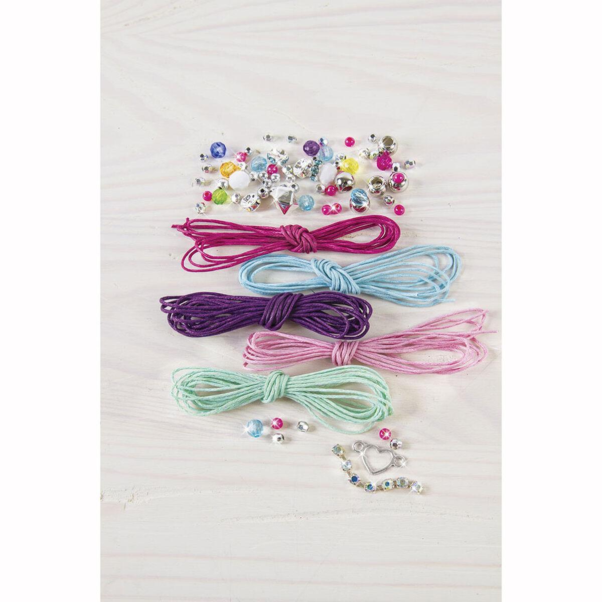 Set pulseras de arcoíris brillantes