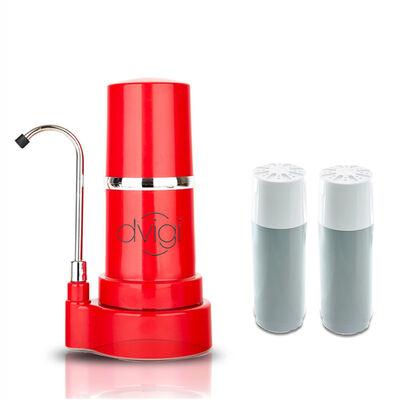 Purificador de Agua Filtro Sobre Cubierta + 2 Filtros de Repuesto Dvigi Rojo