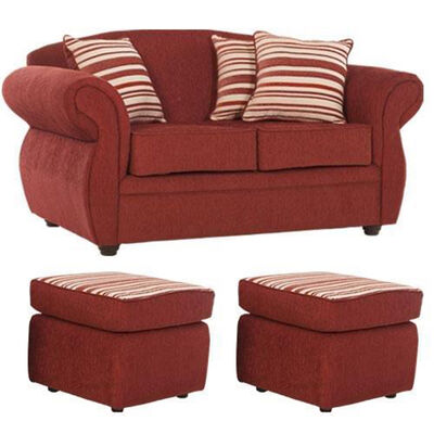 Sofa 2 Cuerpos + 2 Pouf Primo