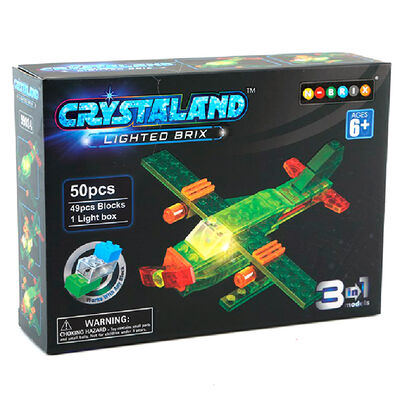 Set Bloques Crystaland Lighted Brix Avión