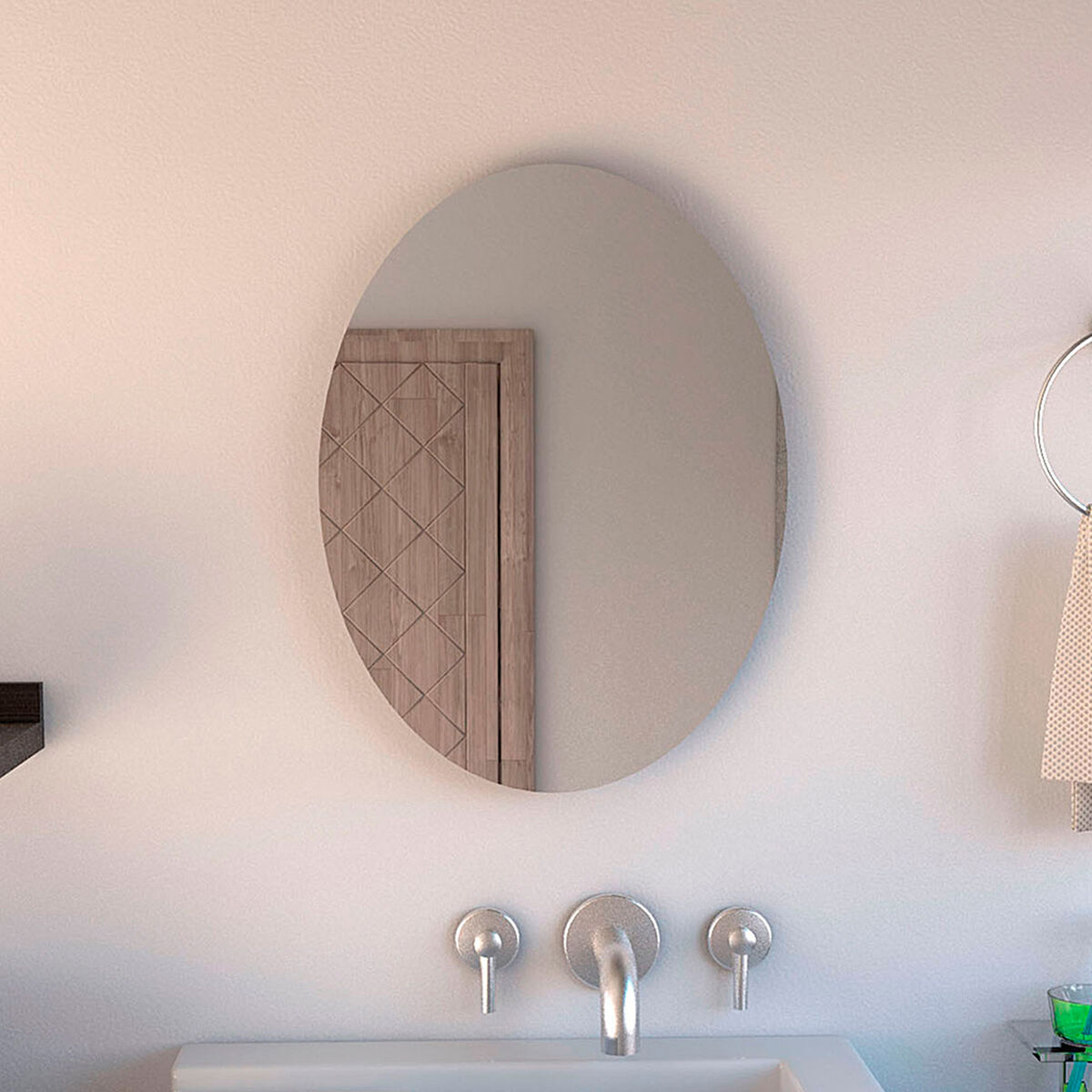Espejo Napoli Sencillo Ovalado