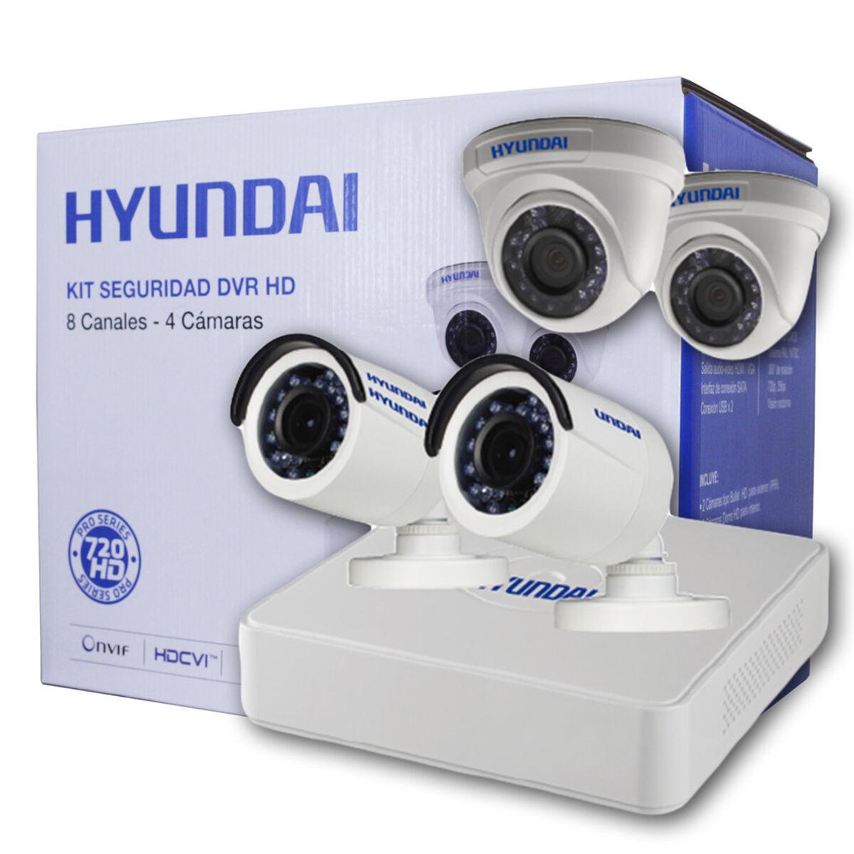 Kit 4 Cámaras de Seguridad Hyundai HY-DVR8CH DVR HD