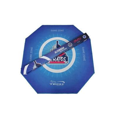 Alfombra Gamer Njoytech NJ-PROMAT9 Hexagonal Azul