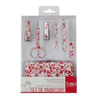 Set De Manicure, 7 Piezas Corazones