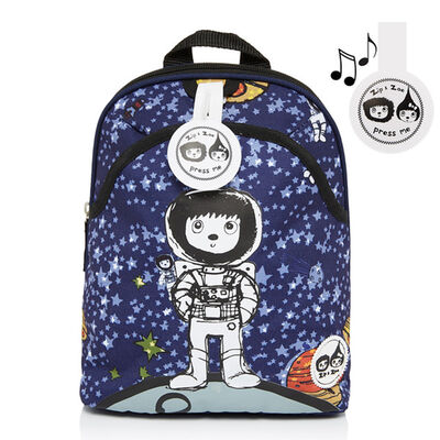 Mochila  Azul Zip Zoe Spaceman Mini Backpack