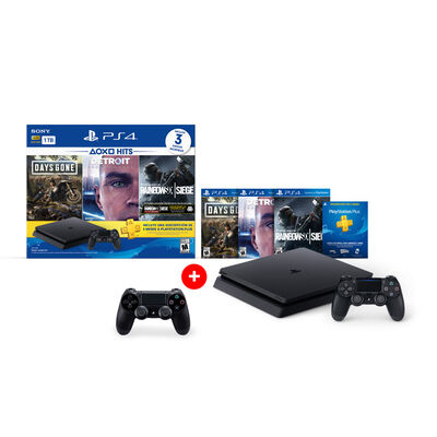 Consola PS4 Hits Bundle 5 1TB + 3 Juegos + 2 Controles DualShock4